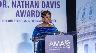 Dr. Sedegah receives Dr. Nathan Davis Awards