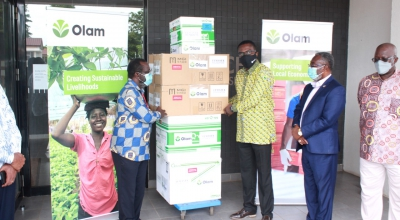 OLAM Ghana Limited Supports NMIMR with Test Kits